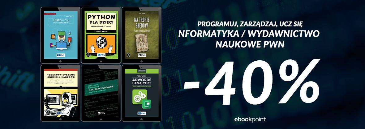 Promocja na ebooki Programuj, zarządzaj, ucz się / -40%